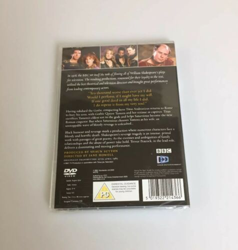 TITUS ANDRONICUS (PG) BBC The Shakespeare Collection DVD New & Sealed | Image 2
