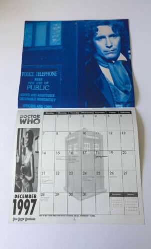 Vintage BBC Doctor Who The Official 1997 Calendar - Heroes & Villains | Image 4