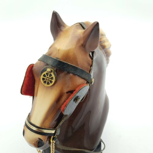 Vintage  KILNESTONE Pottery 25cm Tall Brown Horse Bust on Base Plinth | Image 8