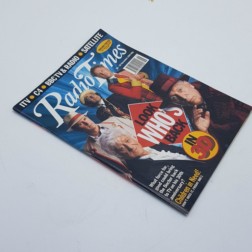 RADIO TIMES 20th - 26th November 1993 DOCTOR WHO 30th Anniversary Cover - NM | Image 2