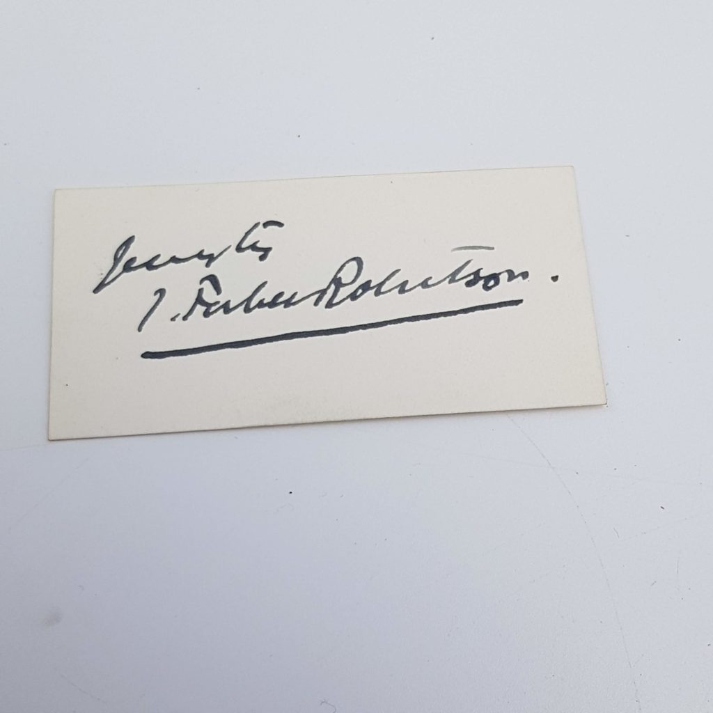 Antique 1903 Signed Card JOHNSTON FORBES ROBERTSON Theatre Actor | Image 1
