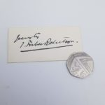Antique 1903 Signed Card JOHNSTON FORBES ROBERTSON Theatre Actor | Image 2