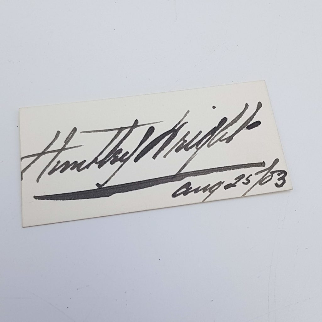 Antique 1903 Signed Card HUNTLEY WRIGHT Edwardian Theatre Actor | Image 1