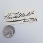 Antique 1903 Signed Card HUNTLEY WRIGHT Edwardian Theatre Actor | Image 2