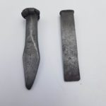 2x Vintage Antique Solid Metal Woodworking Tools Chisel 1