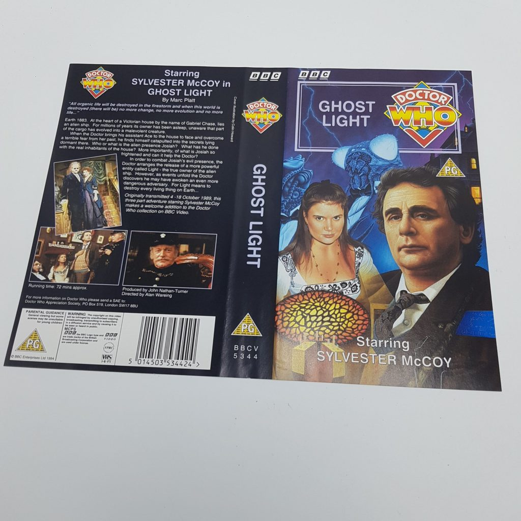 4x Sylvester McCoy Doctor Who UK BBC Video VHS Inlay Cards 7th Doctor | Image 2