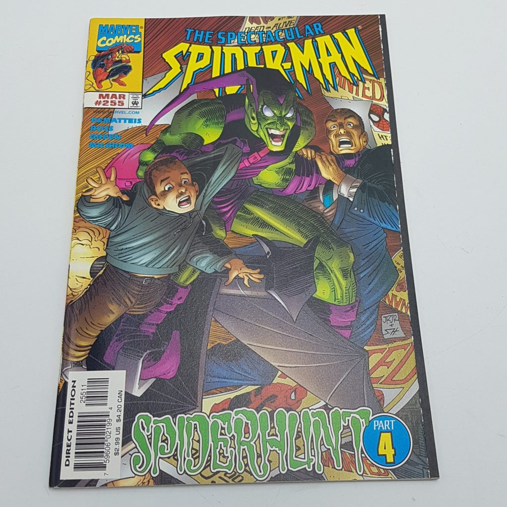 THE SPECTACULAR SPIDER-MAN #255 March 1998 SPIDERHUNT Part 4 NM   Image 1