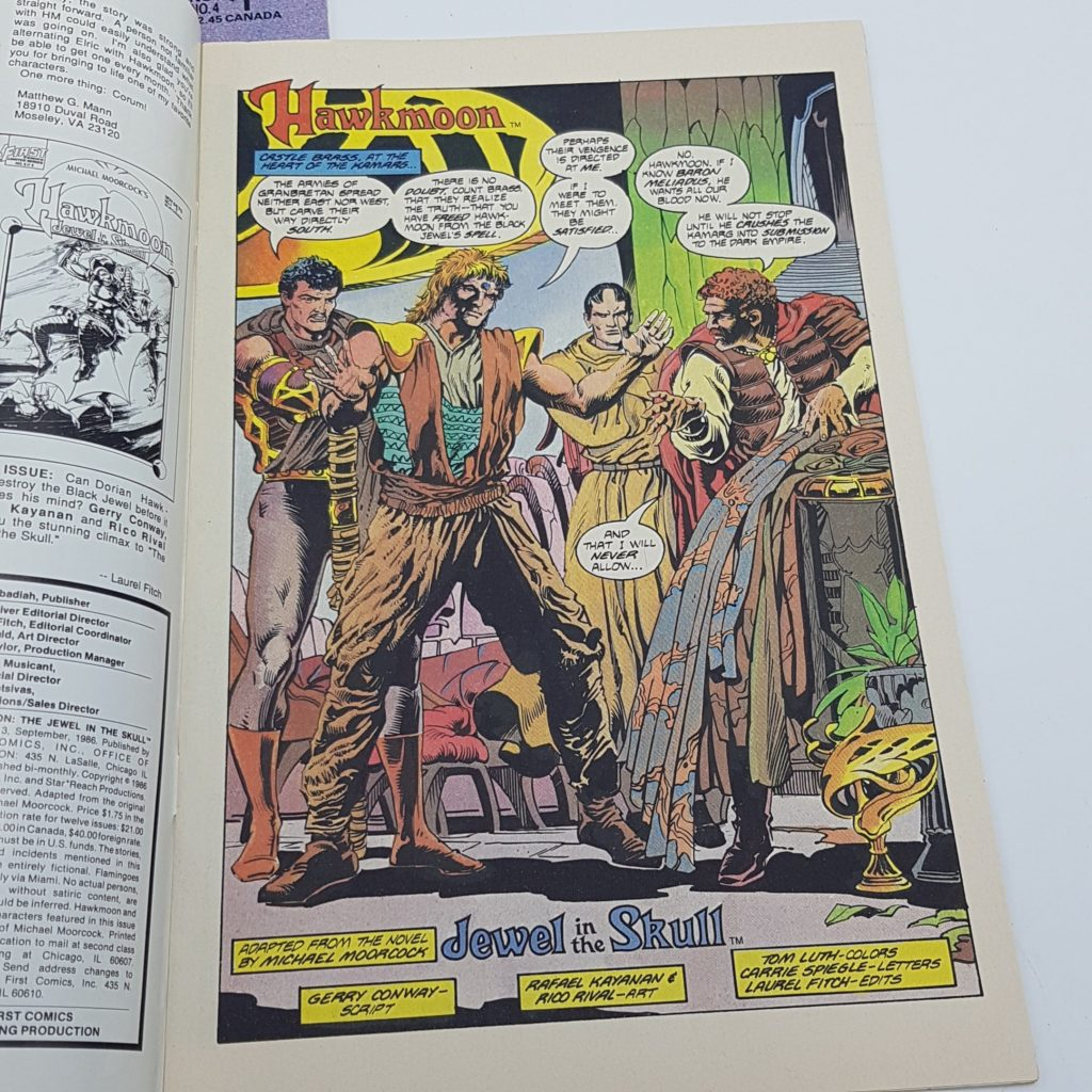 Hawkmoon Jewel In The Skull Issues 3 & 4 (1986) US First Comics VG-NM   Image 6