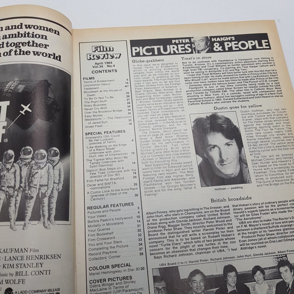 FILM REVIEW UK Movie Magazine April 1984 TERMS OF ENDEARMENT (VG-NM) | Image 6