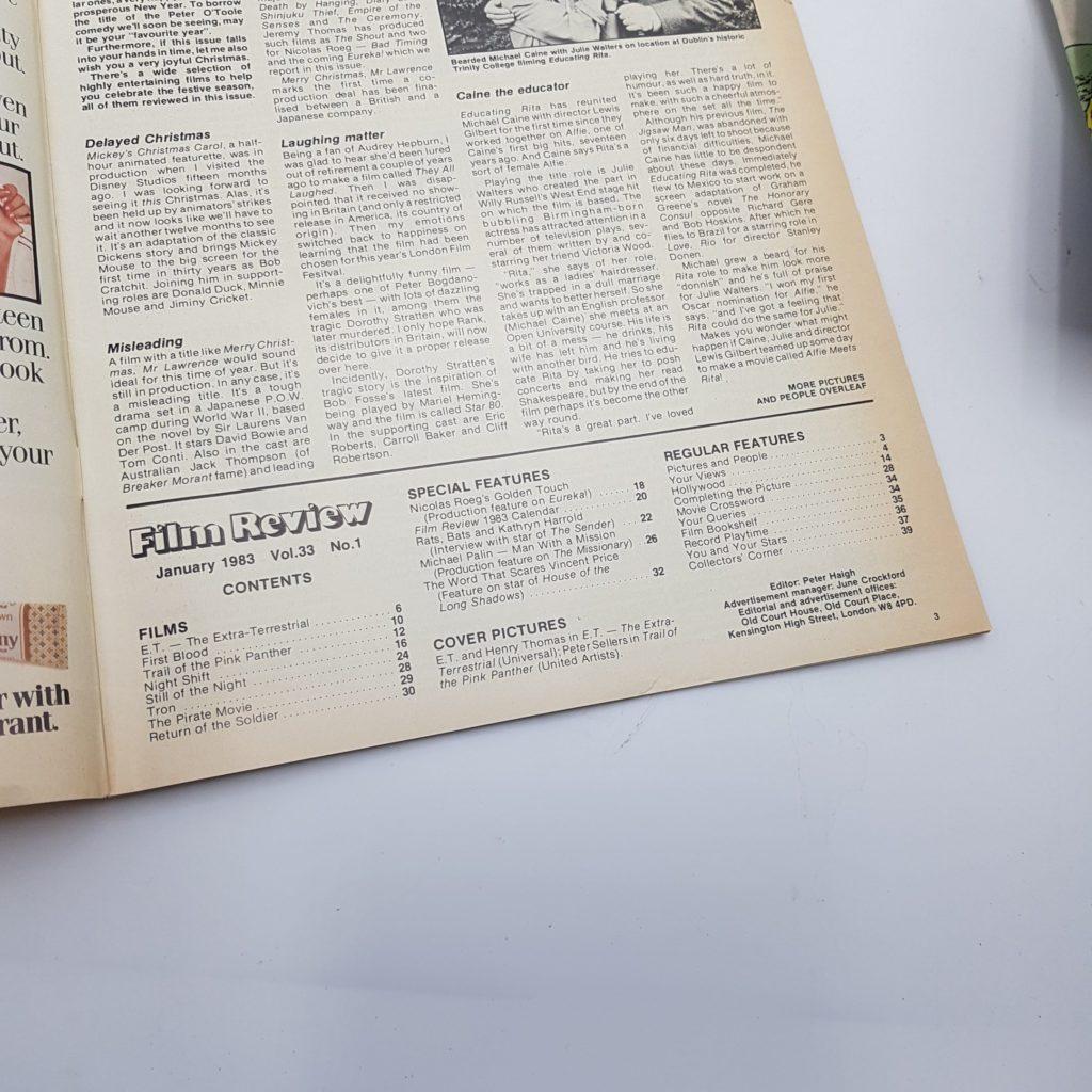 FILM REVIEW UK Movie Magazine Jan. 1983 E.T. Extra Terrestrial SPIELBERG | Image 6
