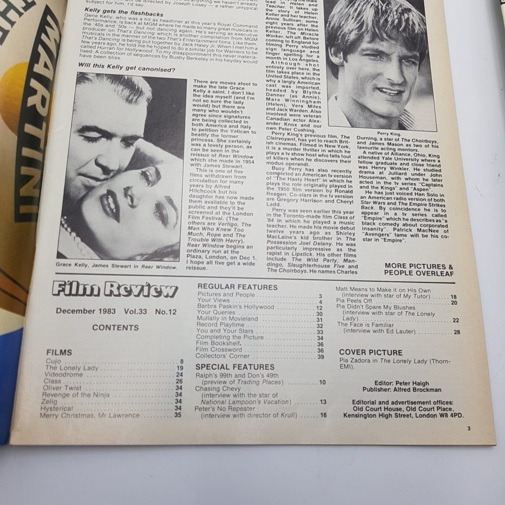 FILM REVIEW UK Movie Magazine Dec. 1983 The Lonely Lady & Krull [VG+] | Image 4
