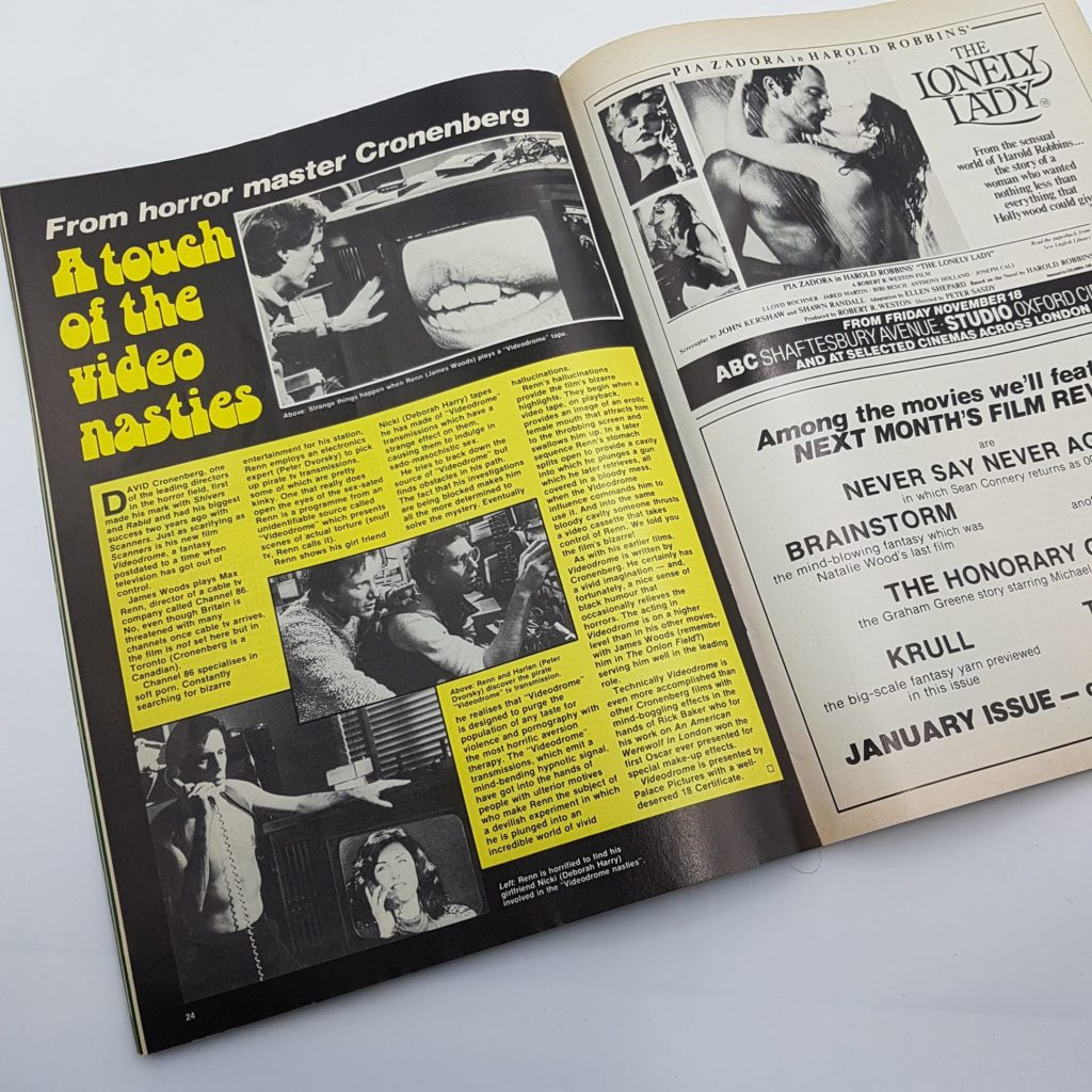 FILM REVIEW UK Movie Magazine Dec. 1983 The Lonely Lady & Krull [VG+] | Image 3