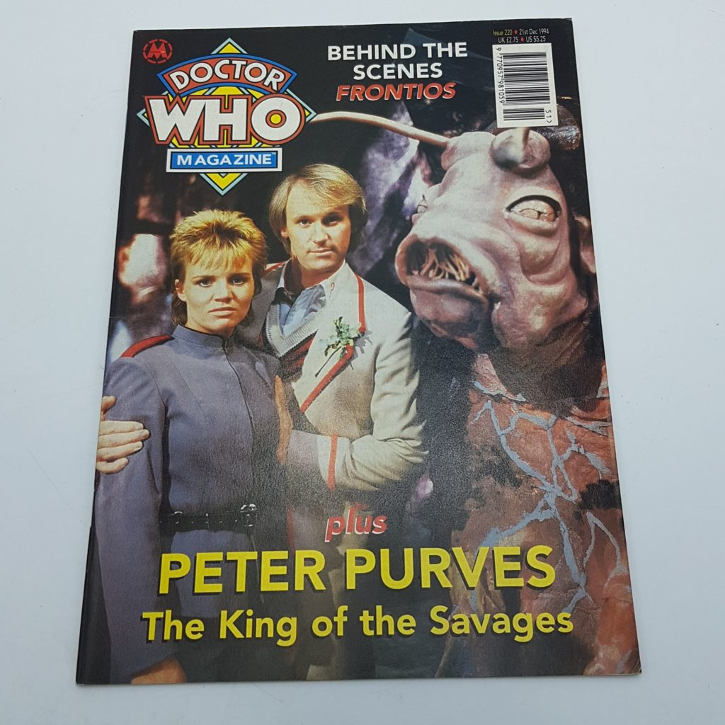 Doctor Who Magazine Issue 220 Dec. 1994 Frontios & Peter Purves VG-NM   Image 1