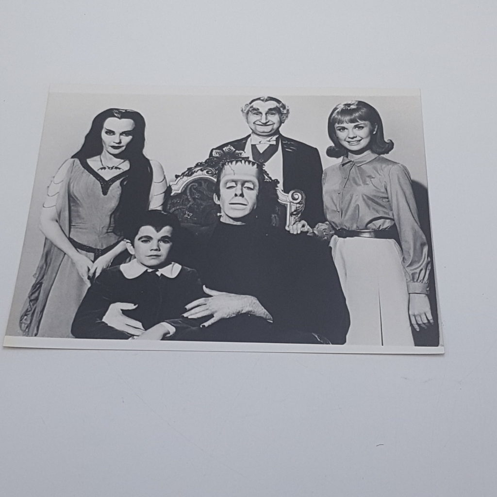 THE MUNSTERS 10x8 B&W Glossy Family Photograph 1960's TV Show | Image 1