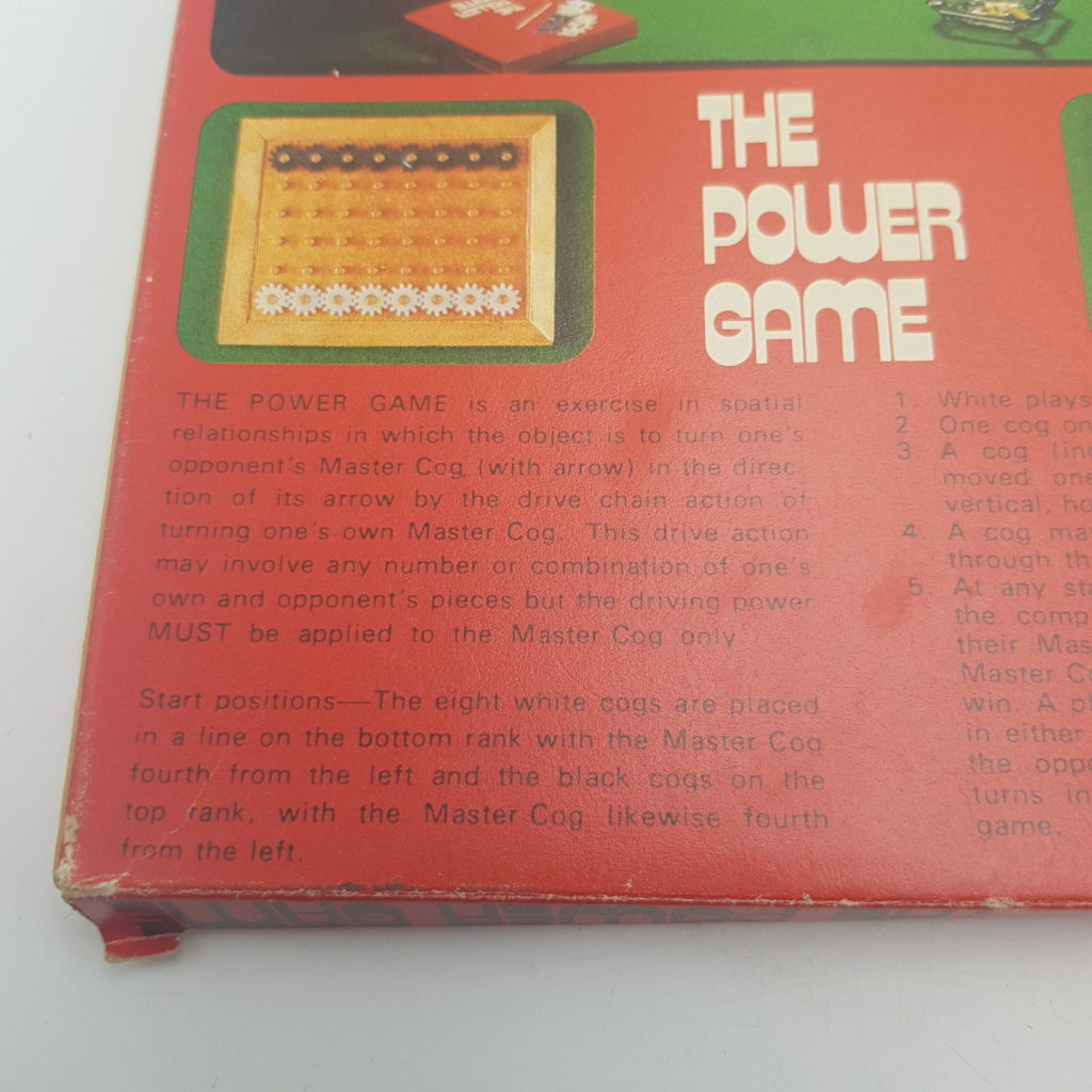 Vintage UK 1970's THE POWER GAME Logic Game (1975) Angel Toy Group | Image 6