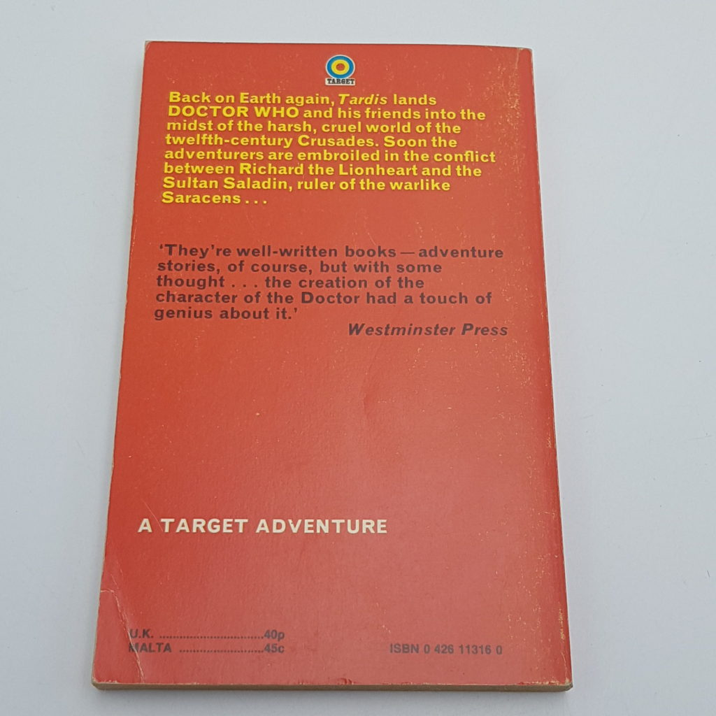 DOCTOR WHO AND THE CRUSADERS Target PB 2nd Ed. 1975 The Crusade   Image 2