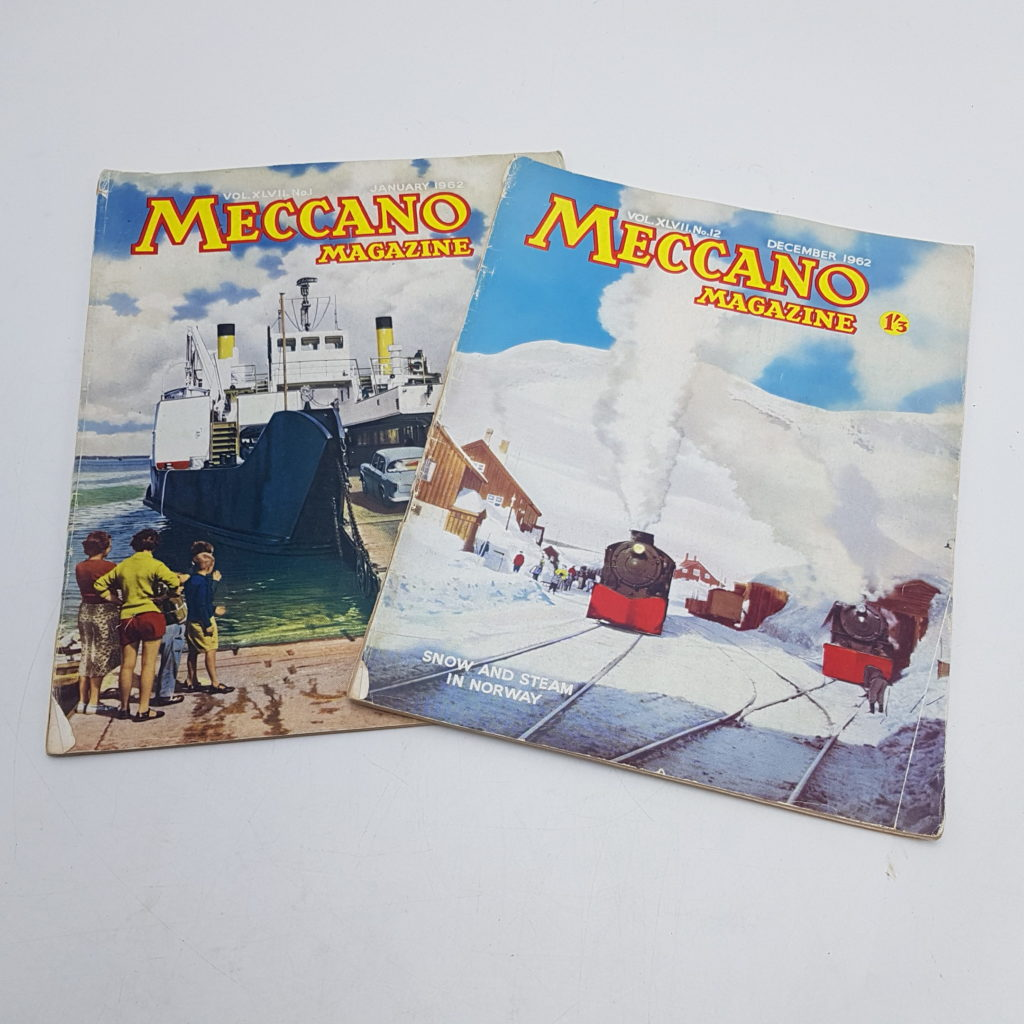 2x MECCANO Magazines 1962 Vol. 47 Issues 1 & 12 - Model Making | Image 1