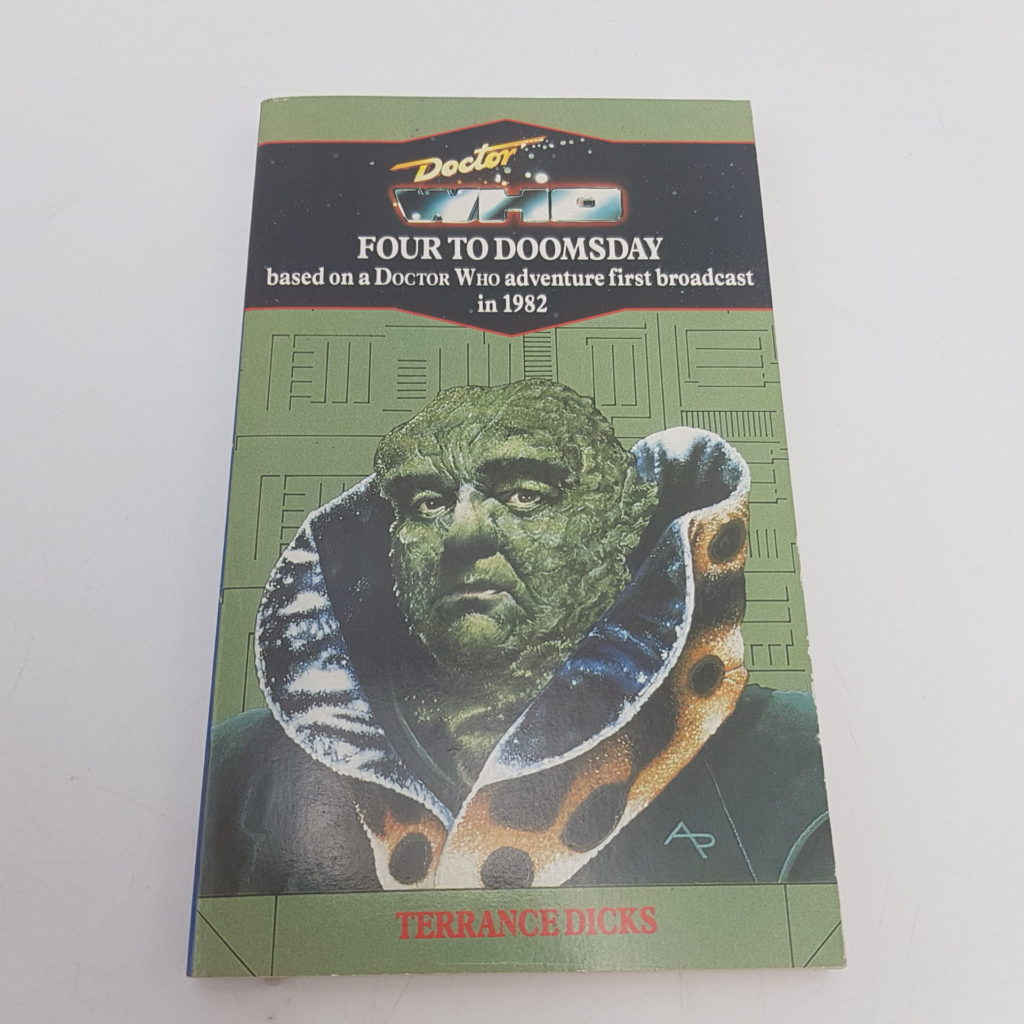Classic DOCTOR WHO FOUR TO DOOMSDAY Novel (1991) Virgin VG-NM   Image 1
