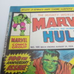 UK Mighty World Of Marvel Starring The INCREDIBLE HULK Comic #100 Aug. 1974 [VG+] | Image 2