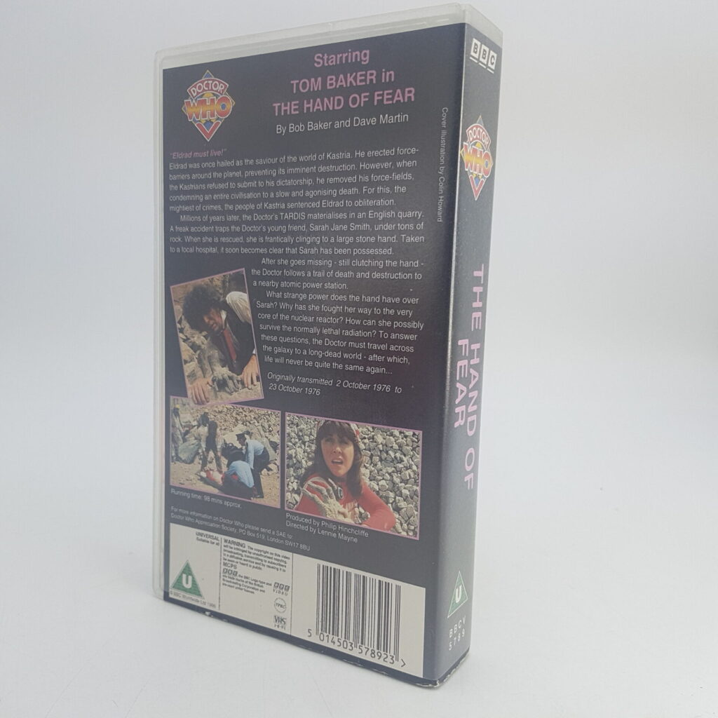 Doctor Who THE HAND OF FEAR Video VHS BBC [Season 14] UK PAL | Image 4
