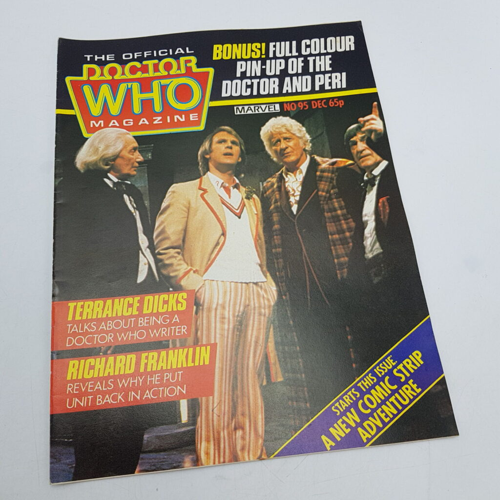 Doctor Who Monthly Magazine #95 Dec. 1984 Terrance Dicks Interview [VG] | Image 1